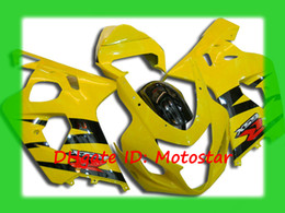 Custom yellow fairing kit for SUZUKI 2004 2005 GSXR 600 750 K4 GSXR600 GSXR750 04 05 body repair fairings