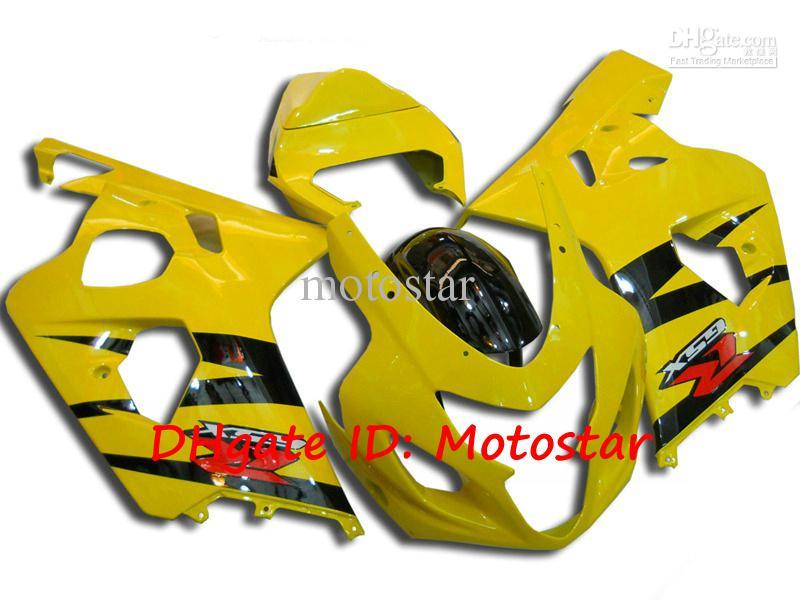 Kundenspezifische gelbe Verkleidung Kit für SUZUKI 2004 2005 GSXR 600 750 K4 GSXR600 GSXR750 04 05 Karosseriereparatur fairings
