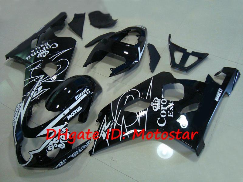 Kit de carenagem Corona Alstare preto para SUZUKI 2004 2005 GSXR 600 750 K4 GSXR600 GSXR750 04 05 carroçaria