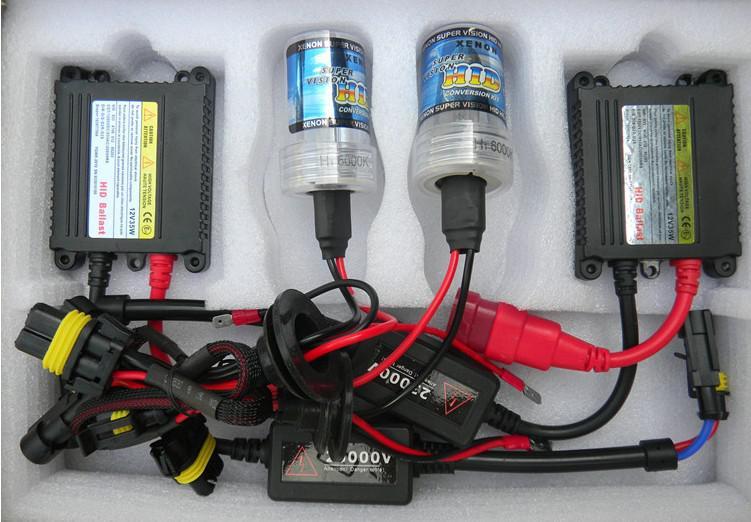 Compre Kit De Converso XENON HID Farol Automvel 12 V 35 W H1 H3 H4 H7 H11 H13 9004 9005 9006 9007 Nica Luz Lmpada 3000K 12000K Xenon