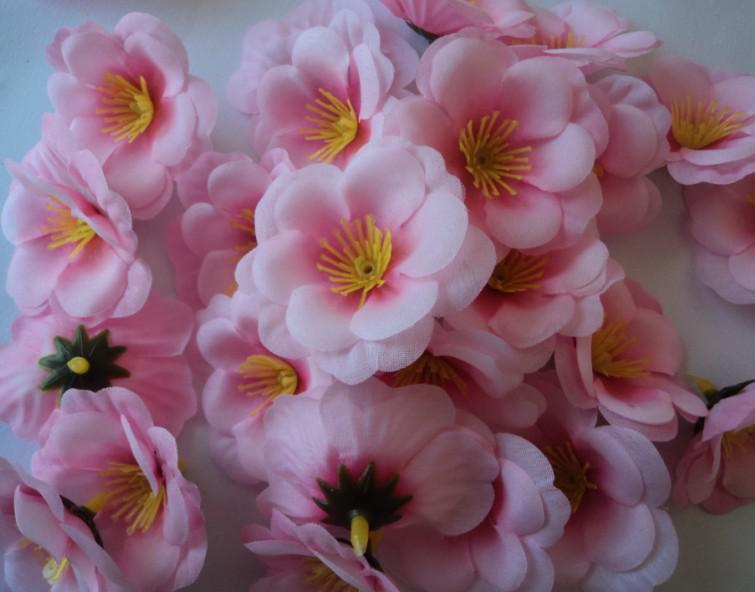 500p 5.5cm Silk Artificial Simulation Flowers Hot Pink Colour Peach Flower for DIY Bridal Bouquet