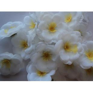 300p 5,5cm silke artificiell simulering blommor vit persika blomma för DIY brud bukett kyssande boll