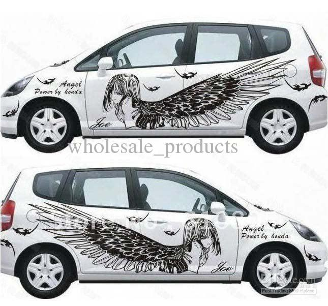 Car Body stickers Wings vehicle stickers  Car Sticker  personalized    Cool Car Stickers For Girls