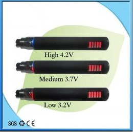 Wholesale Set Battery Ego Vv - 10PC LED screen Display eGo VV 3.2-3.7-4.2V 1100mah electronic cigarett battery free shipping