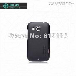 Wholesale Desire C - Free shipping Original Nillkin shield hard cover case for HTC Desire C
