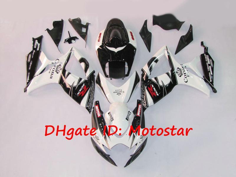 100% moldagem por injeção preto ALSTARE corona carenagem kit para SUZUKI 2006 2007 GSXR 600 750 K6 GSXR600 GSXR750 06 07 carroçaria