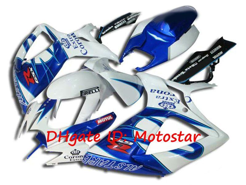 S6623 Blue Corona Fairing Kit för Suzuki 2006 2007 100% formsprutning GSXR 600 750 K6 GSXR600 GSXR750 06 07 Kroppsarbete