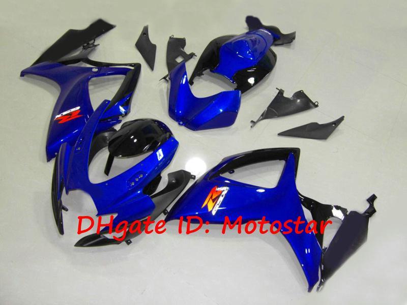 Carénages S6628 noir bleu 100% Injection pour suzuki GSXR 600 750 K6 2006 2007 GSXR600 GSXR750 06 07 kit carrosserie