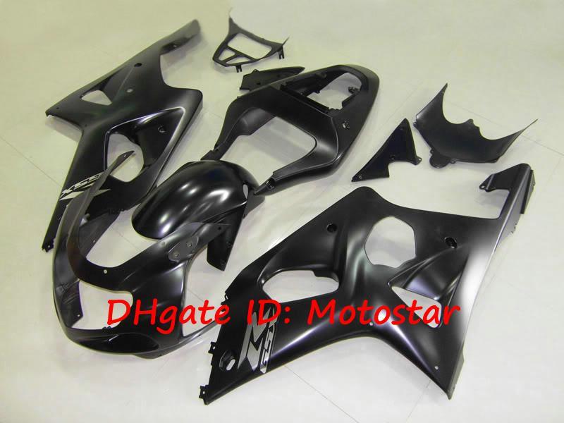 SUZUKI GSXR1000 용 매트 플랫 검정색 ABS 페어링 키트 K2 2000 2001 2002 GSXR 1000 00 01 02 GSX-R1000 페어링 키트