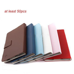 skins for android tablets NZ - Wholesale - 50pcs freeshipping 7inch multi-color PU leather case skin cover for android tablet