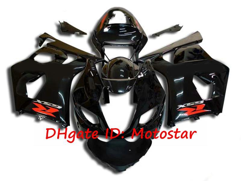 Gloss Black Fairing Kit för Suzuki 2003 2004 GSX-R1000 K3 GSXR 1000 03 04 GSXR1000 Body Kit S1303 Fairings