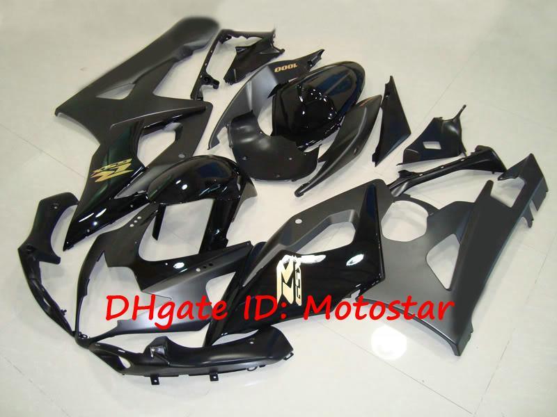 Glans / Flat Black Fairing Kit för Suzuki 2005 2006 GSX-R1000 K5 GSXR 1000 05 06 GSXR1000 7 Gåvor + Säte Cowl Fairings