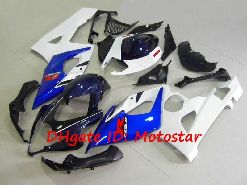 Free Cowl Blue white fairing kit for SUZUKI 2005 2006 GSX-R1000 K5 GSXR 1000 05 06 GSXR1000 bodywork fairings