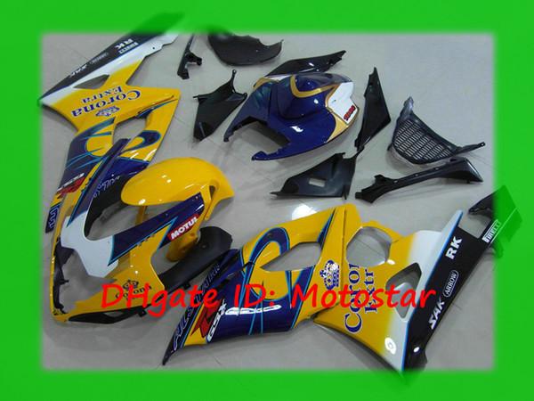 Carrocería Yellow Corona para SUZUKI 2005 2006 GSX-R1000 K5 GSXR 1000 05 06 Juego de carenados GSXR1000 S1506