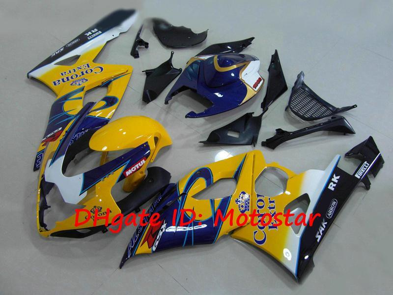 스즈키 용 노란 코로나 차체 2005 2006 GSX-R1000 K5 GSXR 1000 05 06 GSXR1000 S1506 페어링 킷
