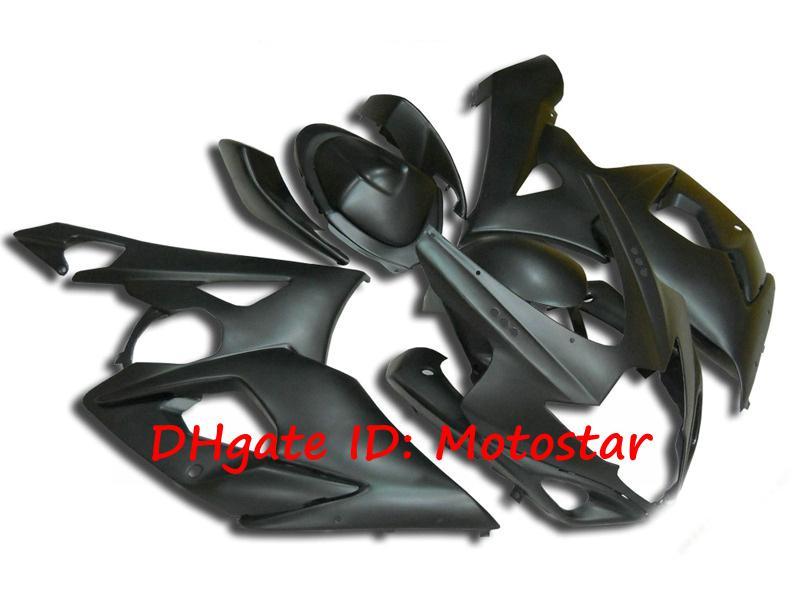 Allt Matte Black Bodywork för Suzuki 2005 2006 GSX-R1000 K5 GSXR 1000 05 06 GSXR1000 Fairing Kit