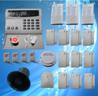 Wholesale Diy Wireless Home Security Alarm - Wireless Home Security Alarm Systems Kit Auto Dial Burglar DIY home alarm system S224