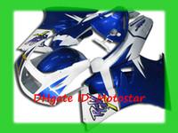 Wholesale Rgv Vj22 - Blue white new Fairing kit for Suzuki RGV250 91-96 RGV 250 VJ22 1991 - 1996 fairings