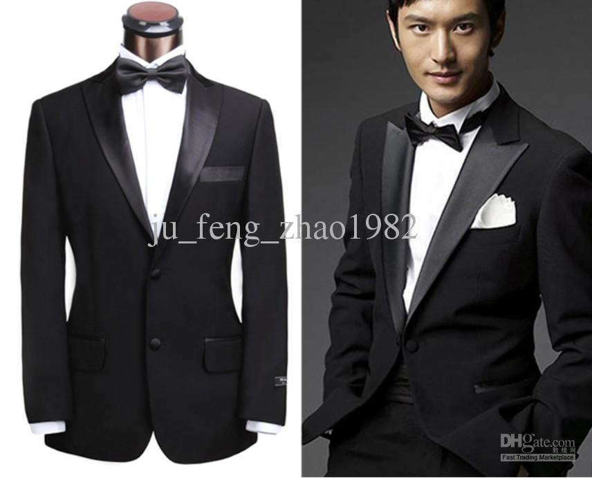 2019 Classic Black Suit Groom Tuxedos 2014 Men'S Suits ...  2019 Classic Bl...