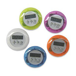 Wholesale Mini Digital Count Up Timer - GLL119 Mini Digital Kitchen Cooking Cook Count Down Up LCD Timer Alarm Clock 5 Colors