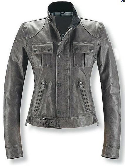 2017 Women Leather Jackets Elegance Casual Bronze Long Sleeves ...