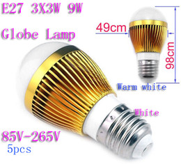 lampadine 3x3w e14 Sconti 5pcsE27 3X3W 9W Lampada a globo a led Lampadina a sfera a bolle di luce 85V-265V Faretto da incasso con buona qualità