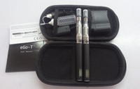 Wholesale Ego Lcd Case - HOT 1100MAH LCD eGo-T4 CE4 clear atomizer Electronic Cigarette with eGo Portable Leather Case