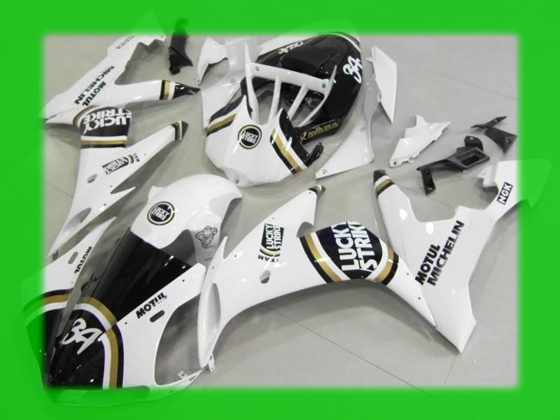 LUCKY STRIKE 34 bodywork for YAMAHA 2004 2005 2006 YZF-R1 fairings kit YZFR1 YZF R1 YZF1000 04 05 06 fairing set