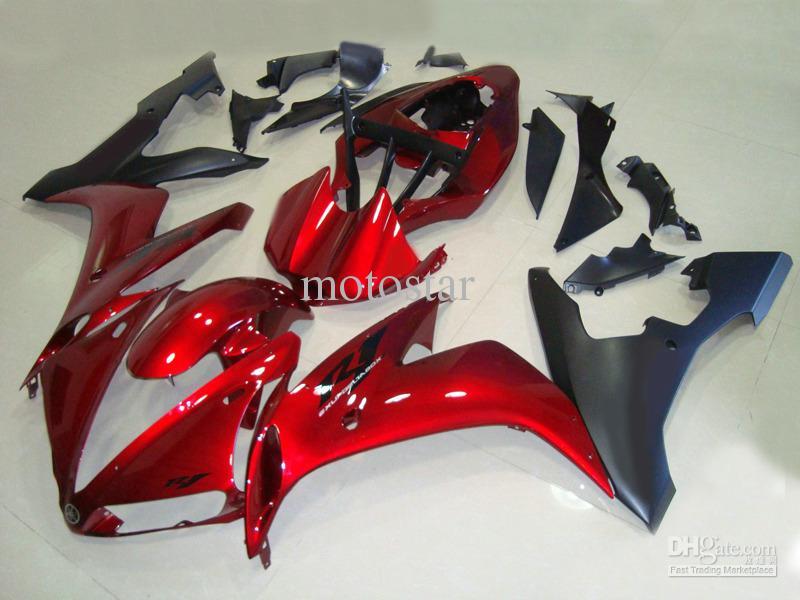 Rode zwarte carrosserie voor Yamaha 2004 2005 2006 YZF-R1 Fairing Kit YZFR1 YZF R1 YZF1000 04 05 06