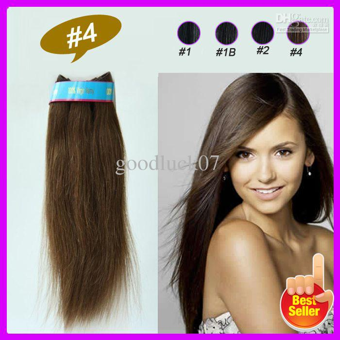 Eton Promotion Low Price Indian Remy Virgin Hair Weft Extension 12