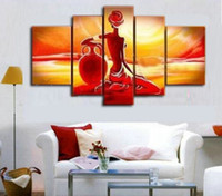 Wholesale Modern Nude Oil Paintings - Abstract Nude African Figure oil painting canvas modern home office decoration wall art decor Gift