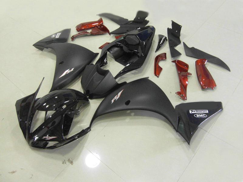 Kit carénage noir brillant Y1915 pour YAMAHA 2009 2010 YZF-R1 YZFR1 YZF R1 YZF1000 09 10 carrosserie