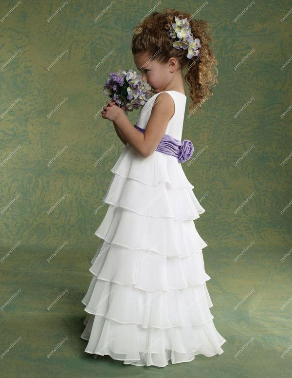 Cheap Cheap Flower Girls Dresses For Weddings Chiffon White And ...