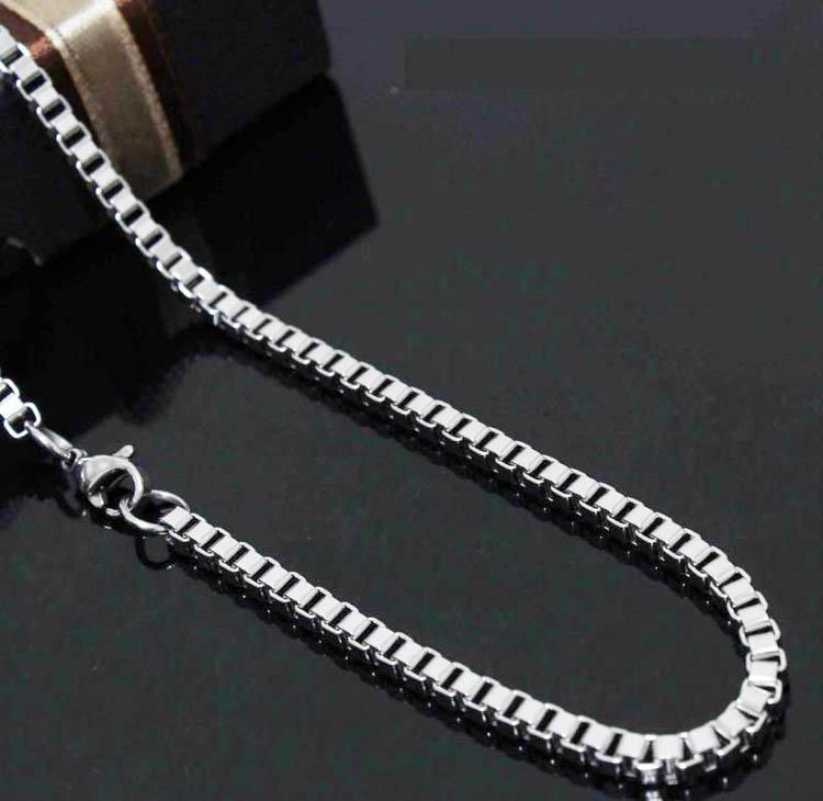 Mutige Männer Schmuck 925 Silber 6 Stücke 4mm Herren Box Kette Halskette 4mm 30 Zoll kommen mit Box Pouch
