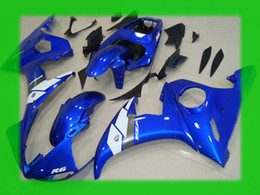 $enCountryForm.capitalKeyWord NZ - Blue white custom for YAMAHA 2003 2004 YZF-R6 YZFR6 03 04 YZF R6 YZF600 bodywork fairings