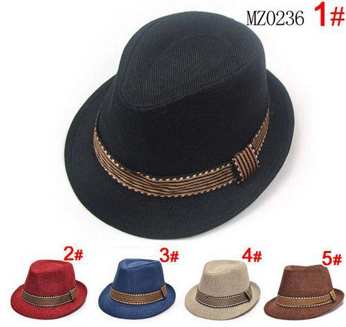 Baby Boy Canvas Fedora Hat Baby Jazz Cap Kids Hat fedora summer hats For 2-5T  EMS Free Ship 5 color 1581a88b060a