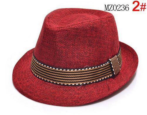 Baby Boy Canvas Fedora Hat Baby Jazz Cap Kids Hat Fedora Sommarhattar för 2-5T EMS Gratis Ship 5 Färg