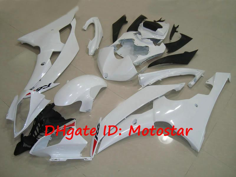 white custom fairing kit for YAMAHA YZF-R6 2008 2009 2010 08 09 10 YZFR6 YZF R6 YZF600 bodywork