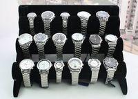 estantes de nivel al por mayor-Envío Gratis 1 unids Negro 3-Tier Velvet Watch / Bracelet Jewelry Display Holder Stand Rack