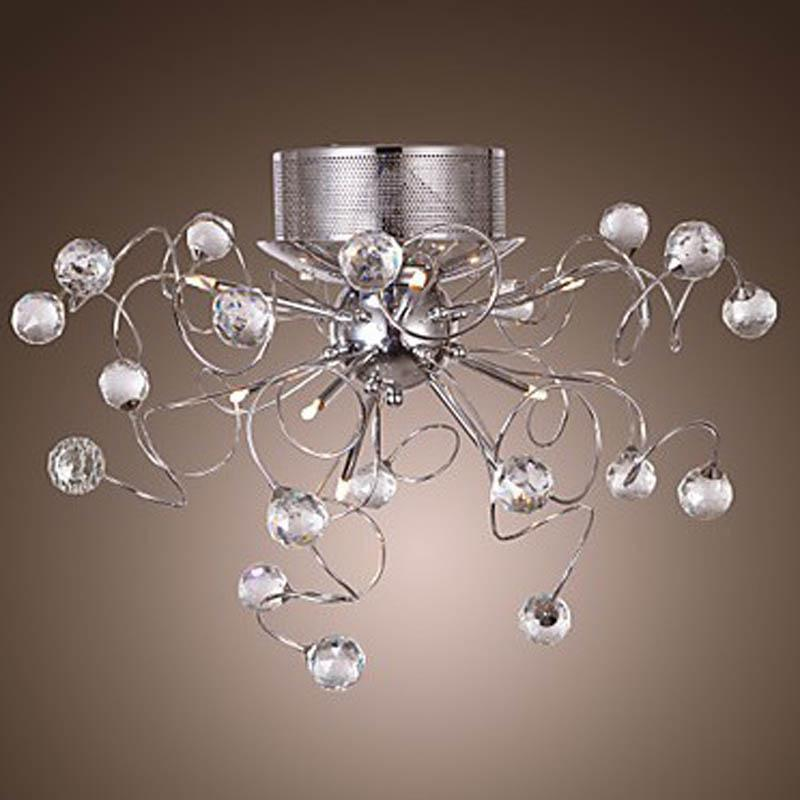 modern crystal chandelier with 9 lights led chandeliers. Black Bedroom Furniture Sets. Home Design Ideas