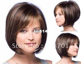 Pelo clásico hermoso, pelo rubio de la manera, peluca de la señora, pelo corto, envío de alta calidad, libre desde fabricantes