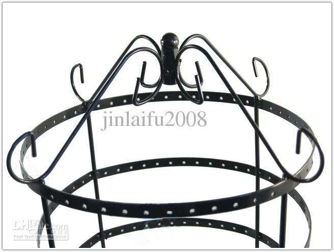 Nuevos pendientes de joyería negro del soporte de exhibición RACK