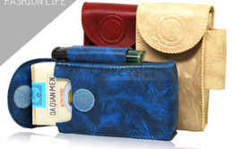 Wholesale Cigar Cases Lighters - Luxury PU leather Cigarette case cigar cases lighter tobacco boxes bag 3 colors XMAS GIFT