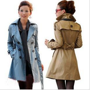 2017 2013 Spring Ladies Slim Trench Coats Lapel Long Sleeve Double ...