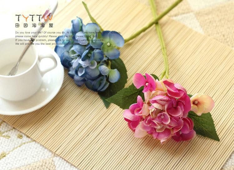 Nieuwe aankomsten 10 stks 30cm Long europ Retro-stijl zijde kunstmatige hortensia bloemen nep bloem voor thuis bruiloft decoratie