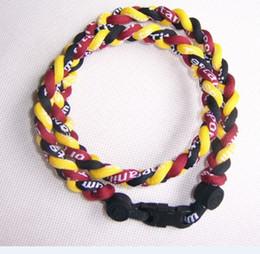 "Wholesale Tornado Braided Necklace - Wholesale -via DHL 3 ropes tornado braided titanium 3 ropes necklace Germanium&Titanium 22"""