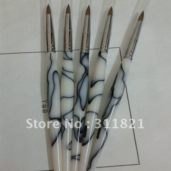 Round Shape Kolinsky/Sable Hair Acrylic Brush Size No.4 /3d Acrylic ...