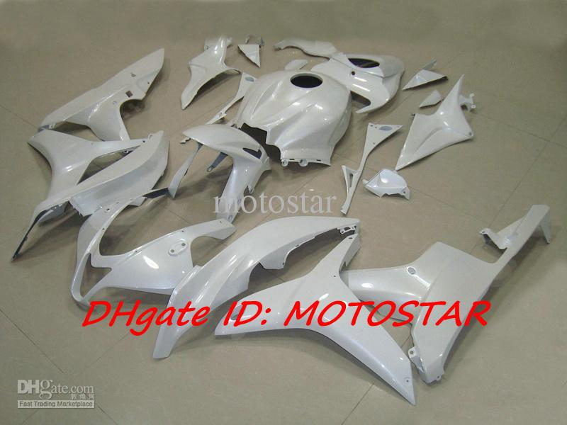 H67B All white ABS Injection for Honda 2007 2008 CBR600RR CBR 600RR F5 07 08 CBR600 fairings kit