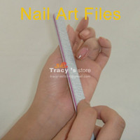 Wholesale White Nail Art Buffer Buffing - Wholesale Professional Nail File Buffing Sandpaper Slim White Nail Art Buffer Tool 100 PCS Lot Free