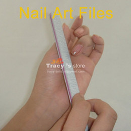 Wholesale Nail File White Buffer - Wholesale Professional Nail File Buffing Sandpaper Slim White Nail Art Buffer Tool 100 PCS Lot Free